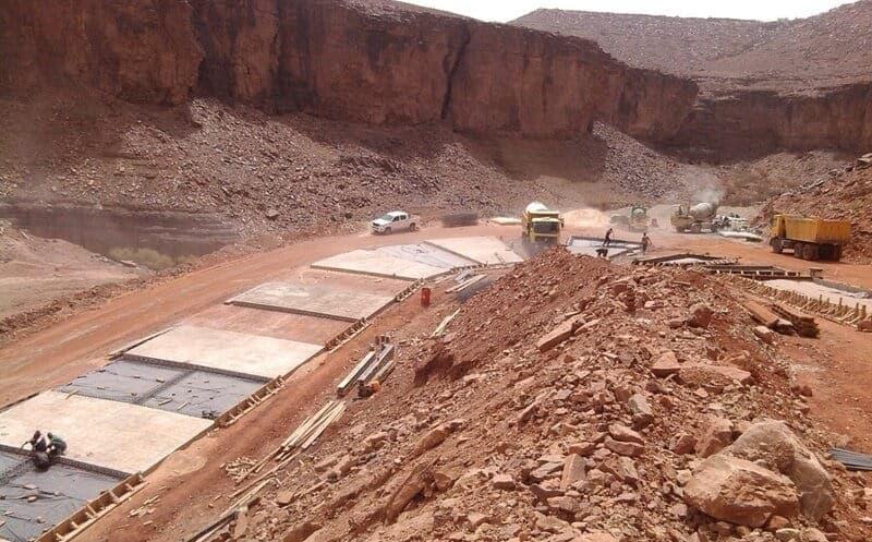 Construction de route en Mauritanie CDE