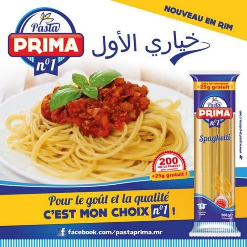 Spaghetti Pasta Prima Grands Moulins de Mauritanie