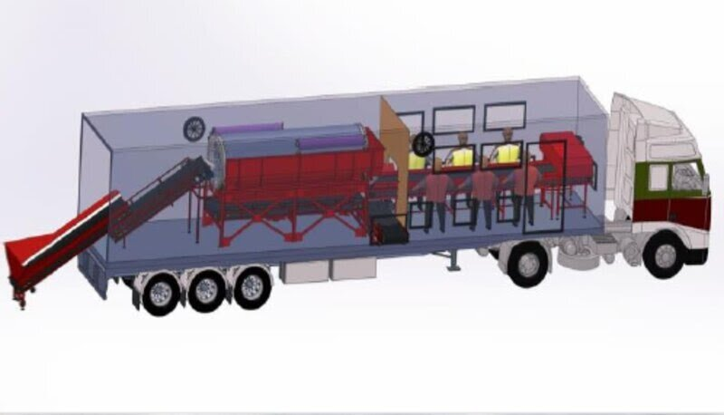 Unité mobile de traitement des déchets Mart sarl